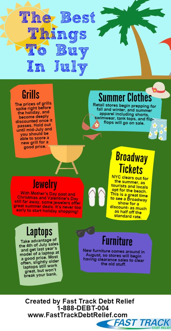 The best things to buy in the summer, but don't get yourself in need of debt help!